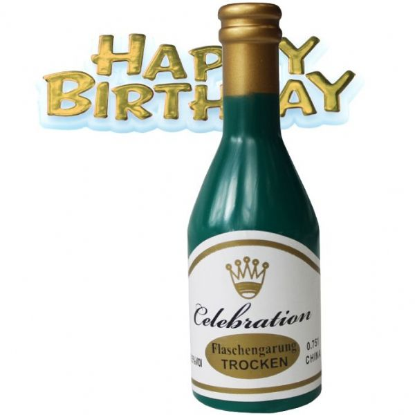 Celebration Bottle with motto - Cake Topper